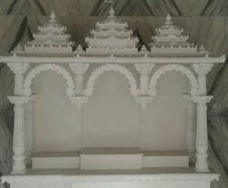White Pooja Marble Temple