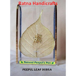 Gold Plated Natural Leaf Durga