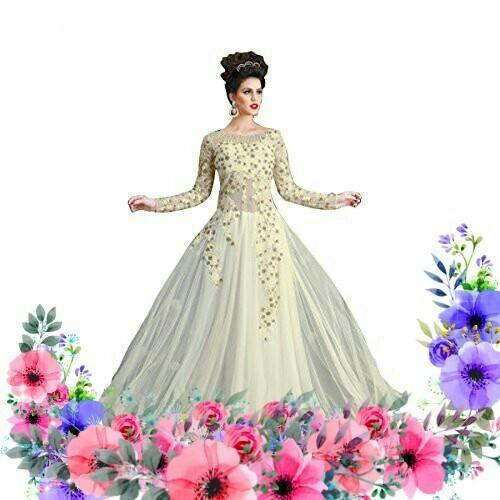 Khusboo Designer World Famous Designer White Ball Gown, बॉल ...