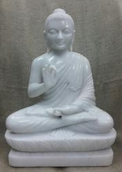 White Marble Lord Buddhas Statue Sculpture