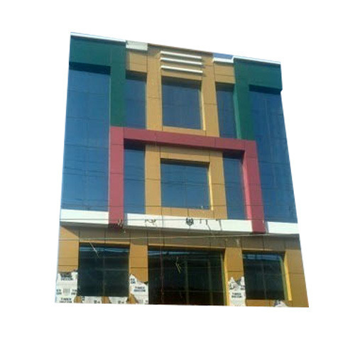 Front Elevation Of House In Gurgaon : Acp front elevation bharat glass