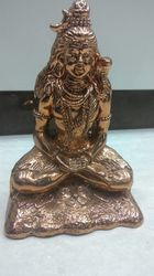 Pure Copper Made (hollow From Inside)  Shankar (shiv) Idol