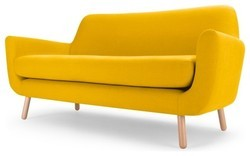 Yellow Three Seater Sofa