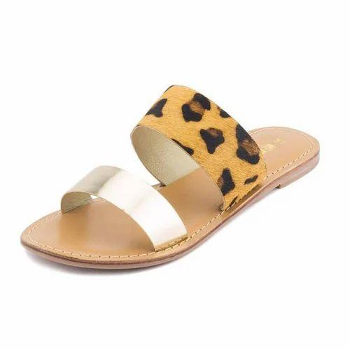 Gekko Cheetah Print Gold Slip On