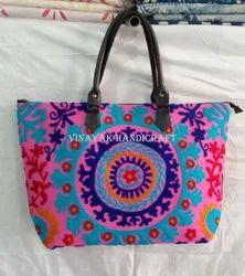 Suzani Hand Bag Embroidered Tote Bag