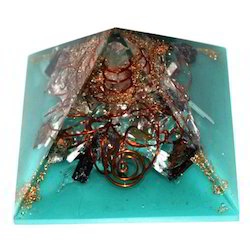 Orgone Pyramid With Green Colour