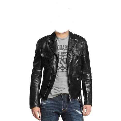 a97ccaa34b170 Men's Leather Biker Jacket, Gents Leather Jackets - Globe Leather ...