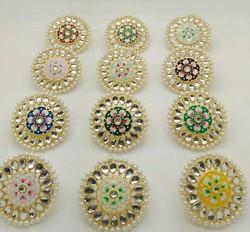Meena Kundan Colourful Stone