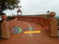 Railing in Red Sandstone