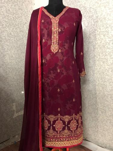 Multi Georgette And Georgette Ladies Churidar Suit