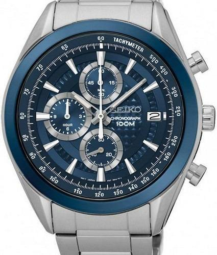 c65dfe35f Seiko Chronograph 100m Water Resistant Watch & Mens Wrist Watches ...