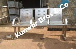 Perforated Stainless Steel Bench