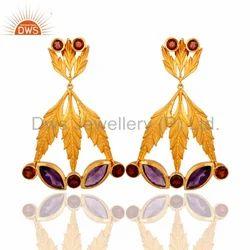 Garnet Gemstone Earring