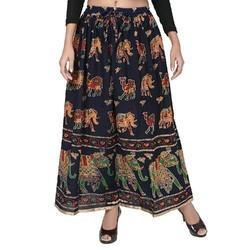 Rajasthani Print Cotton Skirt