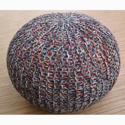 Circular Knitted Pouf