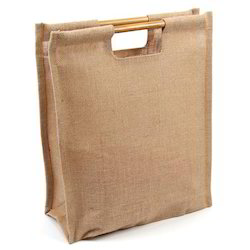 f85c50998ee6 Brown Bamboo Handle Jute Bag, Rs 45 /piece, Shiwa Industrial ...