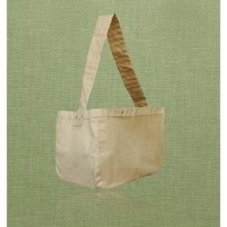 Recycled Canvas Messenger Shopping Bag