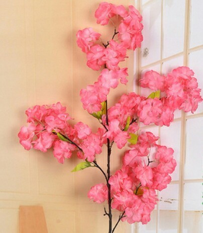 White And Pink Imported Artificial Cherry Blossom Pack Size Standard