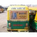 Vinyl Auto Rickshaw Back Panel Advertising Service, For Advertisement, Mode Of Advertising: Offline