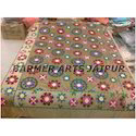 Suzani Embroidery Border Bed Cover Full