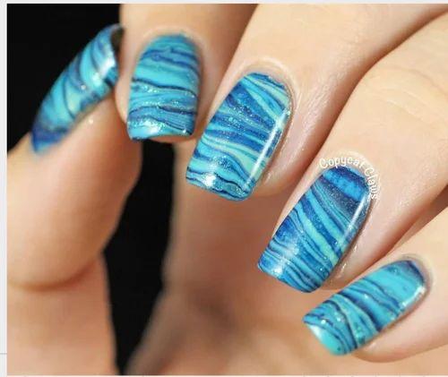 Female Nail Art Water Marble