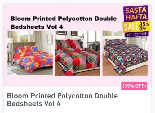 Bloom Printed Polycotton Double Bedsheets
