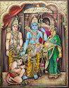 Sita Rama Lakshmana Hanumana Tanjore Paintings