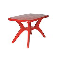 Rectangle Red Dining Plastic Table