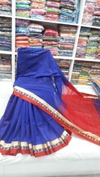 Cotton Silk Border Blended Sarees with Blouse Piece