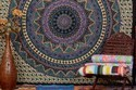 Indian Mandala Wall Tapestry Boho Elephant Dorm Decor