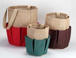 Earthyybags Jute Garden Basket, Size: 32 x 25 cm
