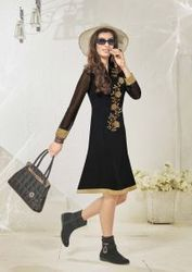 Black Indo Western Party Wear Kurti