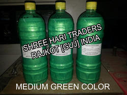 Medium Green Metalic Liquid Color