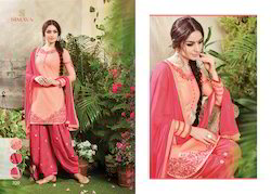 Cotton Embroidered Stylish Fancy Salwar Suit