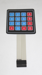4 x 4 Matrix Membrane Keypad