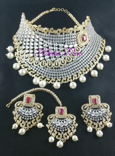 088c276f3 White Brass Bridal Jewelry Sets, Rs 7500 /set, Nikita Plus | ID ...