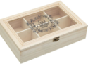 Pine Wood Box For Tea Pouches