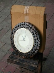 Analog Polished Tekle Wooden Watch Clock
