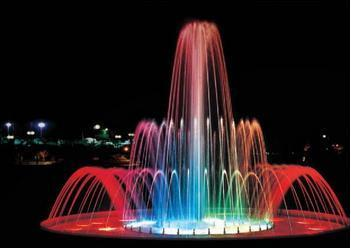 Water Fountain With Multicolor Light
