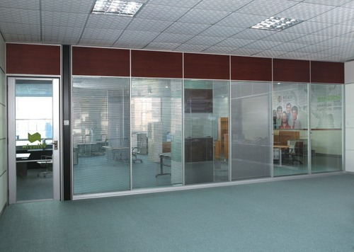 75mm Full Height Glass Partition Shape Rectangular Id