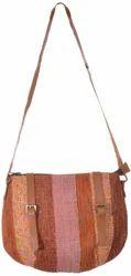 Handmade Carpet Style Leather Handle Bag