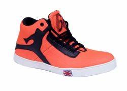 Orange Canvas Sneaker Shoes