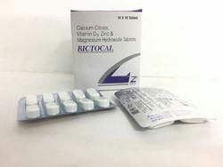 Calcium Citrate 1000mg Vit D3 200 IU  Zinc Sulphate 4 Mg