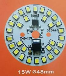 15W LED Light Bulb PCB With LED Driver IC , Size : 48mm