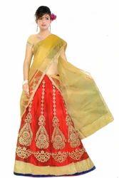 Party Wear Designer Net Lehenga Choli, Dry Clean