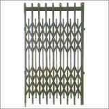Black Mild Steel Manual Collapsible Gates, For Residential