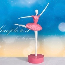 Beautiful Pink Ballet Dancing Girl Craft Desktop Decoration