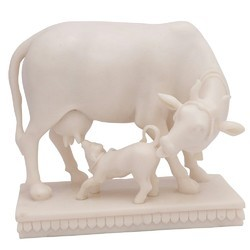 Cow With Calf ( Medium) In Resin Cow_M
