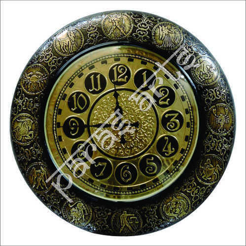 Isha Art Antique Metal Zodiac Sign Wall Clock