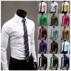 Boys Cotton Plain Formal Shirt